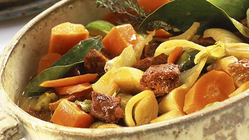Receta Ecológica recomendada por ECOticias.com: Estofado de verduras con seitán