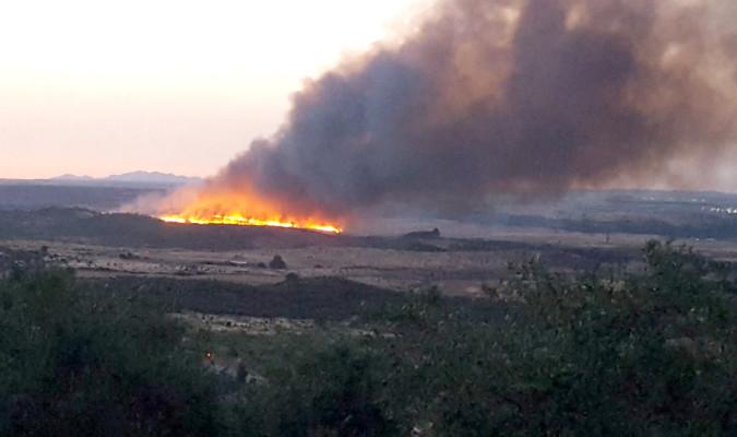 Declarado un incendio forestal en Guadalcanal