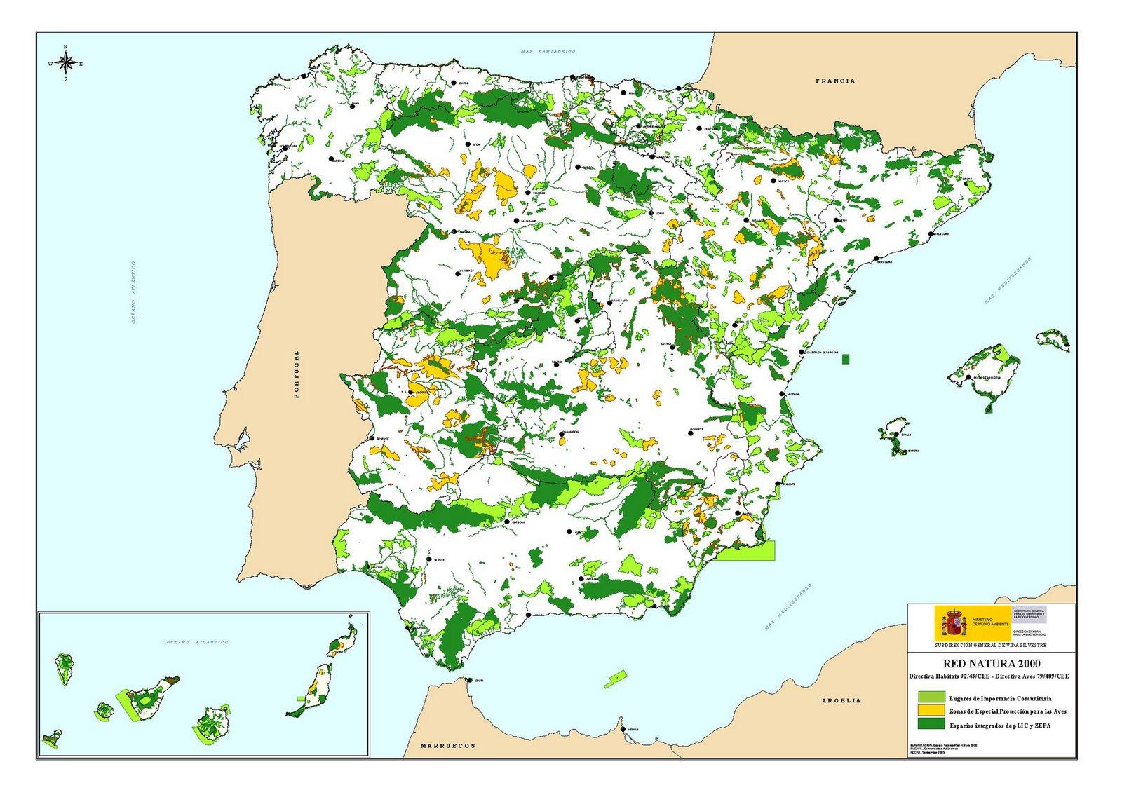 España, el país europeo que más superficie aporta a la Red Natura 2000