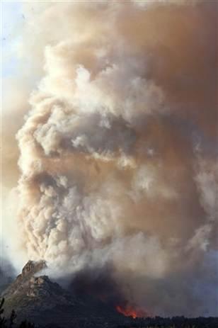 España con la mayor contaminación del aire de fuentes naturales, polvo del Sáhara y fuegos forestales