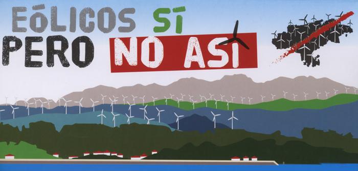 Protestas y amenazas por ley eólica cántabra