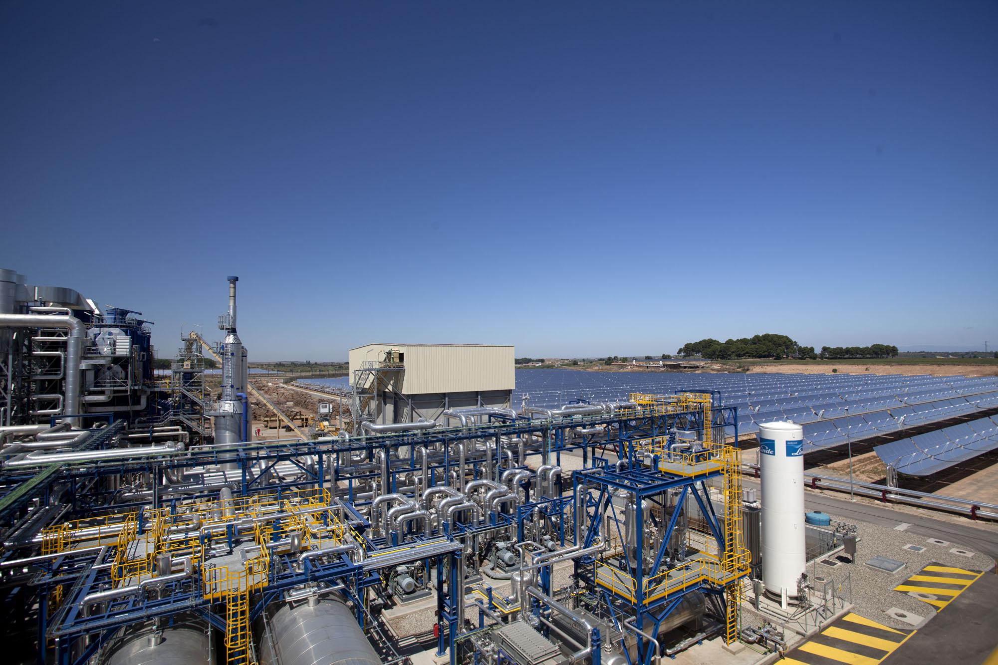 Arranca en Lleida la primera planta del mundo que combina energía solar y biomasa
