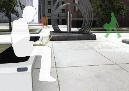 Mobiliario urbano productor de energía