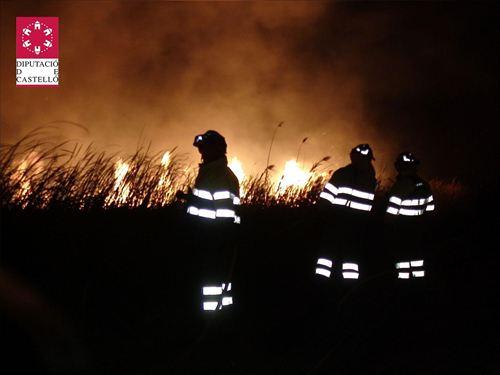 Incendio del parque natural del Prat de Cabanes (Castellón)