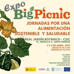 El Real Jardín Botánico acogerá el 3 y 4 de junio el 'Expo Big Picnic', una feria europea de alimentación sostenible