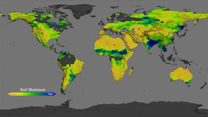 Aquarius crea mapas mundiales de humedad