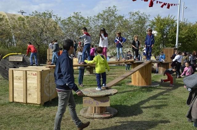 Los Sanfermines tendrán un nuevo espacio infantil con elementos reciclados