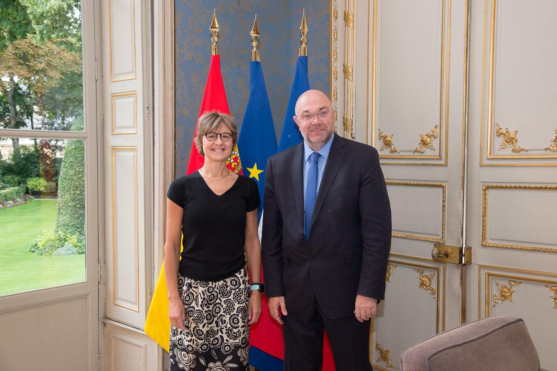 Isabel García Tejerina se reúne con el ministro de Agricultura y Alimentación de Francia, Stéphane Travert