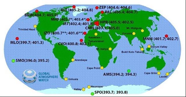 Alarmante concentración sin precedentes de CO2 en el hemisferio norte