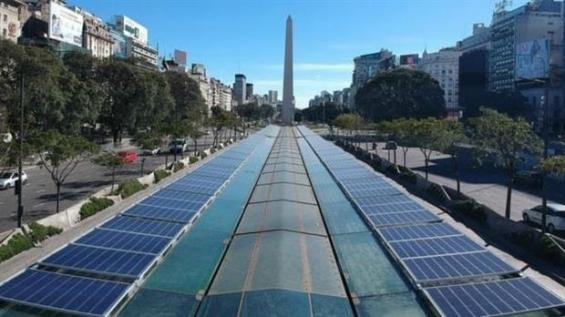 Argentina: El Metrobús de la 9 de Julio en Buenos Aires estrena energía solar