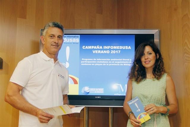 El Aula del Mar y la Diputación de Málaga inician la campaña informativa sobre medusas en la Costa del Sol