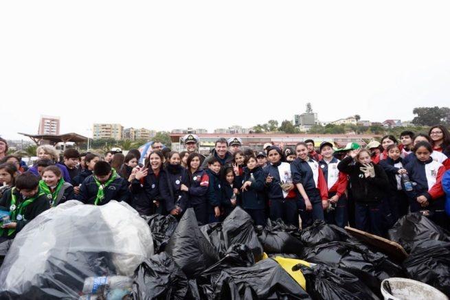 Chile: Limpieza de playas 2017: se retiran 300 kilos de residuos en Caleta Portales en Valparaíso
