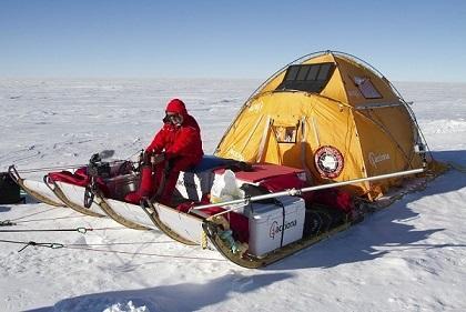 Un trineo eólico para cruzar Groenlandia