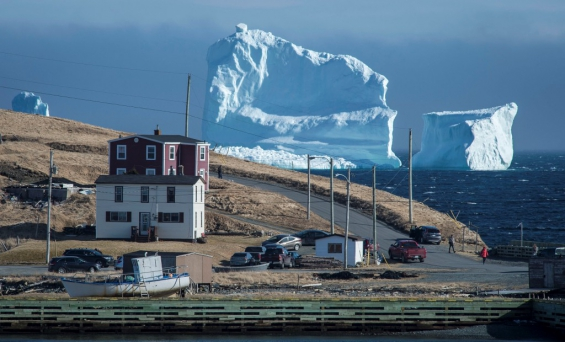 Cánada. Un impresionante iceberg sorprendió a todos en las costas de Newfoundland