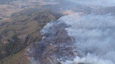 Culminan la extinción del incendio de sierra Larga en Jumilla
