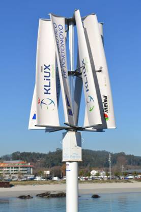 Kliux-Geolica instalará un aerogenerador urbano en el Parque del Ebro o el de la 'Ñ'
