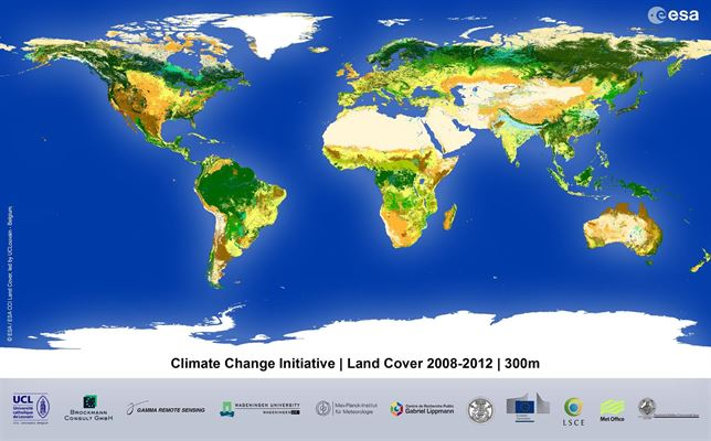 Descubre el nuevo mapa mundi de cobertura vegetal