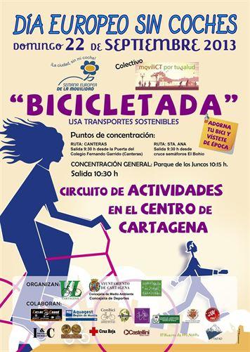 Una marcha ciclista y una veintena de actividades para celebrar el Día Europeo Sin Coches en Cartagena