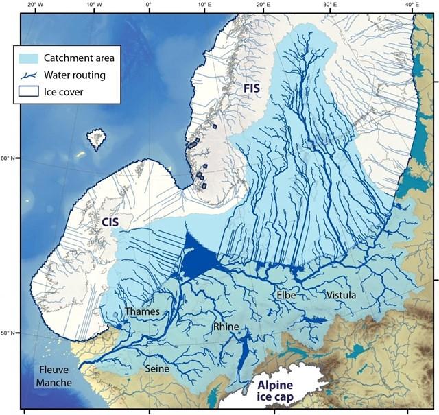El colapso de la capa de hielo europea produjo un caos fluvial