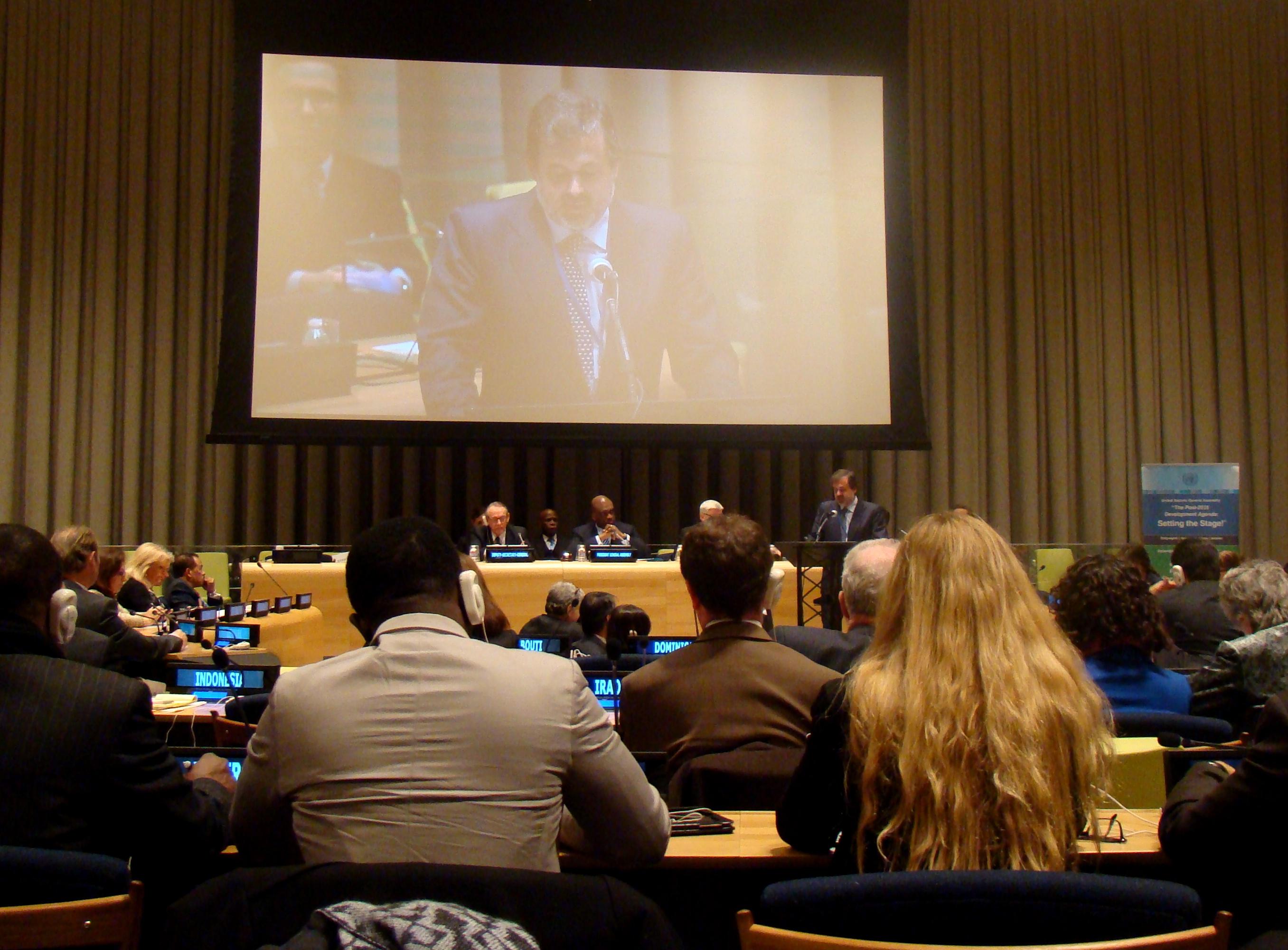 España participa en la jornada de Naciones Unidas sobre Agua, Saneamiento y Energía Sostenible