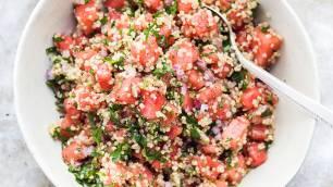 Receta Ecológica recomendada por ECOticias.com: Ensalada de quinoa con sandia y queso