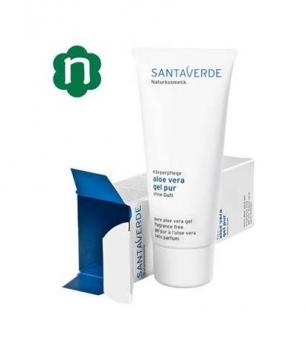 Gel puro Aloe Vera Santaverde, ideal para hidratar y refrescar la piel después del sol