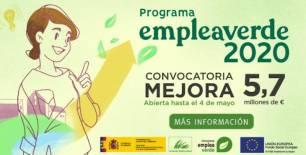 Se amplía el plazo de la convocatoria para mejorar la cualificación de personas trabajadoras del Programa empleaverde