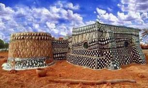 Arte con pinturas de arcilla