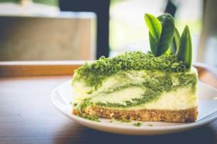 Receta Ecológica recomendada por ECOticias.com: Tarta de queso con matcha