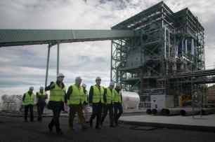 Ence arranca su planta de biomasa en Mérida