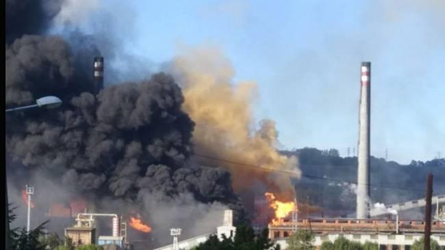 Asturias. Nuevo incendio en baterías de coque en Avilés