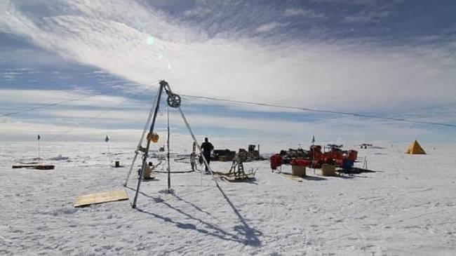 Calor geotérmico está socavando el hielo cerca del polo sur