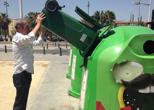 Navarra. Éxito de la recogida selectiva a través del contenedor verde