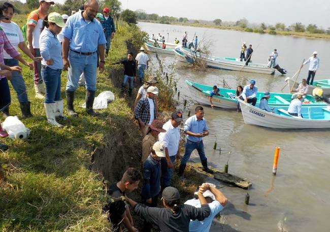 Conmemoran a los humedales en la laguna de Tamiahu