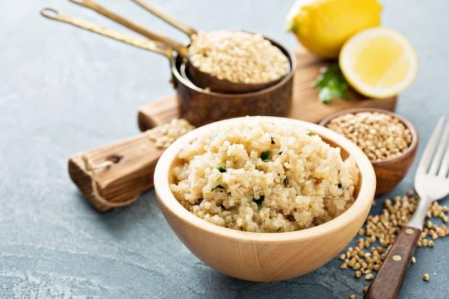 Quinoa con puerros y calabacín especiado