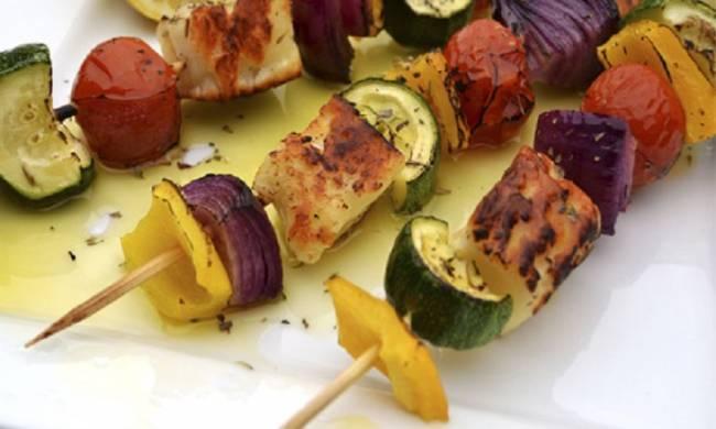 Pincho de verduras al pesto