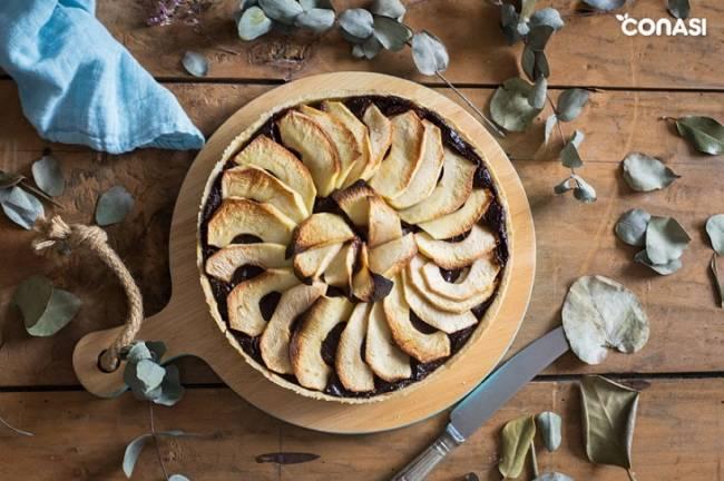Tarta de Manzana y Chocolate