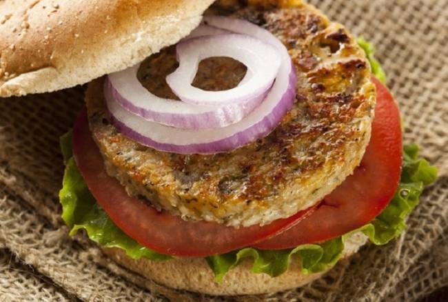 Burger vegetariana con legumbres