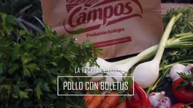 Pollo ecológico de Carnes Campos con boletus