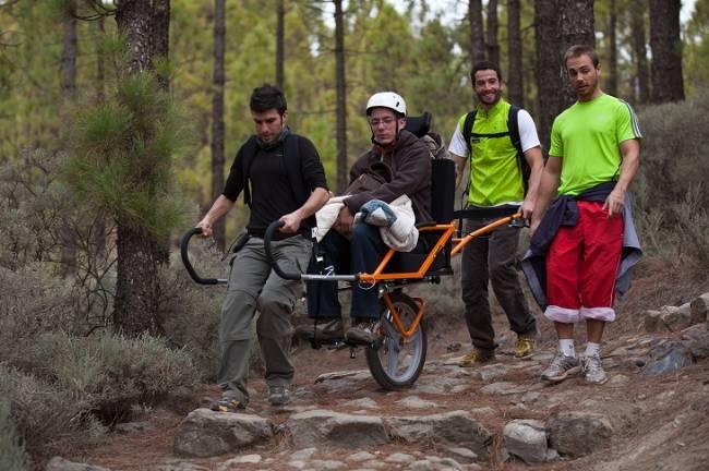 Siles, primer ayuntamiento jiennense en contar con sillas de senderismo para personas con discapacidad