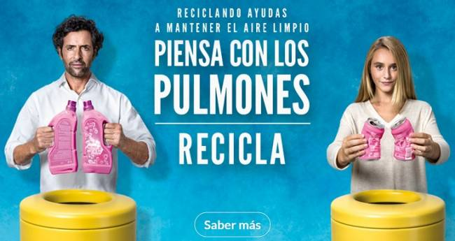 Nueva campaña de Ecoembes 'Piensa con los pulmones' que explica la importancia de reciclar para la calidad del aire