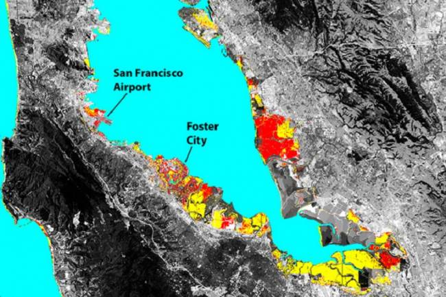 El terreno se hunde en San Francisco y el mar amenaza a Silicon Valley