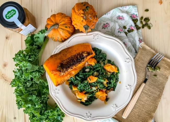 Receta Ecológica recomendada por ECOticias.com: Calabaza al horno col kale