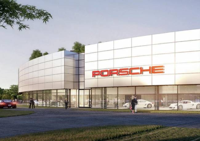 Porsche prueba una fachada con tecnología verde que absorbe el dióxido de nitrógeno en su fábrica de Stuttgart