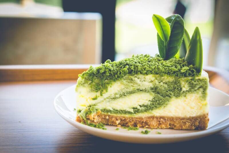Tarta de queso con matcha