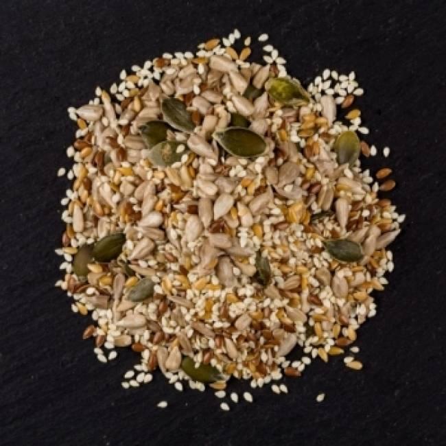 Coctel de semillas con calabaza