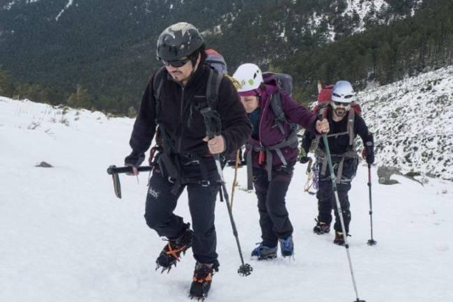 Cuatro montañeros ciegos coronan el pico más alto de los Alpes Escandinavos a través de una nueva ruta
