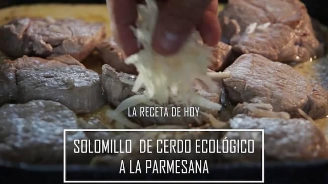 Solomillo a la parmesana de: Campos Carnes Ecológicas
