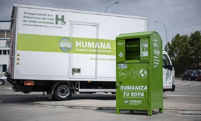 Humana recupera 17.427 toneladas de textil usado  en España para darles un fin social